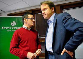 Martin Bursík (vpravo) aministr školství Ondřej Liška, foto: ČTK