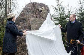 V Rokytnici vOrlických horách byla odhalena pamětní deska legionáři Mikuláši Jaroslavu Novákovi, foto: ČTK