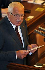 Президент Чехии Вацлав Клаус (Фото: ЧТК)