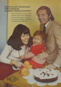 Family life - a state poster promoting child allowances