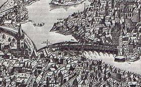 Charles Bridge in 1562