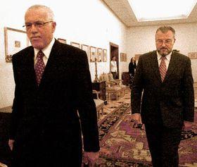 Václav Klaus con Jozef Kubinyi (dra.), foto: CTK