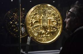 Gewaltige Goldmünze (Foto: ČTK / Vít Šimánek)