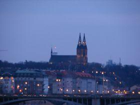 Вышеград ночью (Фото: Кристина Макова, Чешское радио - Радио Прага)