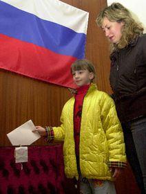 Голосование при посольстве РФ в Праге, фото: ЧТК