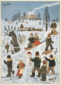Josef Lada, 'Les enfants en hiver', 1955, photo: Galerie Tančící dům