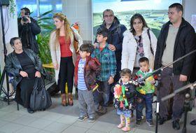Беженцы из Ирака в пражском аэропорту им. Вацлава Гавела, Фото: ЧТК