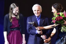 Charles Aznavour a été distingué jeudi soir, dans le cadre du festival du film Febiofest, d'un prix Kristián, phto: ČTK