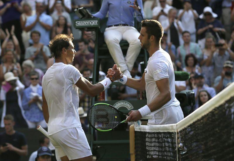 Jiří Veselý y Rafael Nadal, foto: ČTK/AP Photo/Tim Ireland