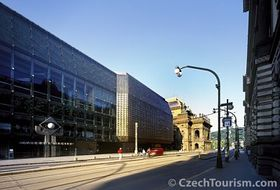 Buildings of the Laterna Magika, the New Scene and the National Theatre