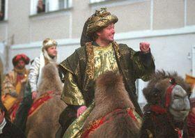 Tři králové na cestě Prahou, foto: ČTK