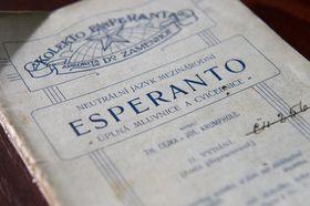 Чешский учебник эсперанто - один из экспонатов выставки в г. Свитавы, Фото: ЧТК