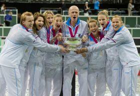 Чешская сборная во главе с капитаном Петером Палой, Фото: ЧТК