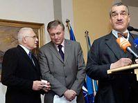 From left: Vaclav Klaus, Mirek Topolanek and Karel Schwarzenberg, photo: CTK