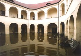 Roztoky Chateau during floods