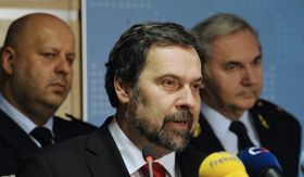 Petr Lessy (a la izquierda), Radek John (en el centro), foto: ČTK