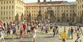 El patio del Castillo de Praga, foto: ČT
