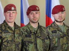 Martin Marcin, Kamil Beneš, Patrik Štěpánek, photo: archive of Czech Army