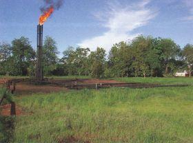 Extraction del petroléo en la Amazonia ecuadoriana