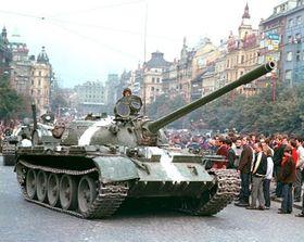 На Вацлавской площади в августе 1968 г. (Фото: ЧТК)