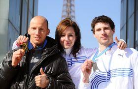 Petr Svoboda (left), Denisa Rosolová, Jaroslav Bába, photo: CTK