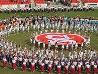 Entrenamiento  de las actuaciones gimnásticas colectivas tradicionales, foto: archivo de Česká obec sokolská