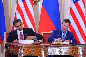 Barack Obama et Dimitri Medvedev
