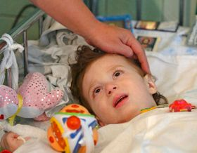 Child from Beslan in Moscow hospital, photo: CTK