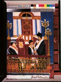 Bar Mitzvah in a Prague temple, oil on canvas, 1941, photo: © Jewish Museum in Prague