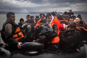 Беженцы, прибывшие из Турции на греческий остров Лесбос, Фото: ЧТК