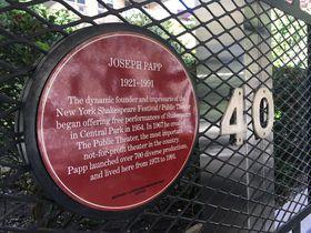 Pamětní deska Josepha Pappa vNew Yorku, foto: Ian Willoughby