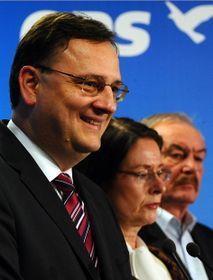 Petr Nečas, Miroslava Němcová, Přemysl Sobotka, foto: ČTK