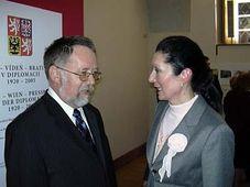 Jaroslav Basta und Margot Klestil-Löffler