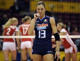 Tschechische Volleyballerinnen (im Hintergrund) haben auch gegen Italien gespielt (Foto: ČTK)