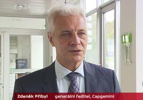 Zdeněk Přibyl, el director general de Capgemini, foto: ČT