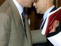 Cyril Svoboda and Vladimir Spidla (at the back), photo: CTK