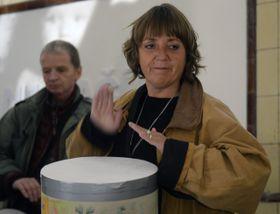 Leoš Válka, actress Bára Hrzánová, photo: CTK