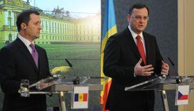 Vlad Filat y Petr Nečas, foto: ČTK