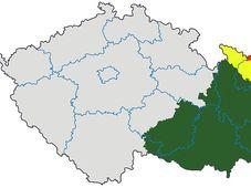 Mähren - Morava (grün), Quelle: Jiří Vaňáček, Wikimedia CC BY-SA 3.0