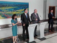 Le ministre français de l'Agriculture Didier Guillaume était à Prague ce jeudi pour rencontrer son homologue tchèque Miroslav Toman, photo: Alexis Rosenzweig