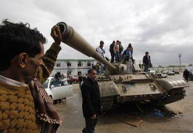 Los opositores controlan la ciudad de Bengasi, foto: ČTK