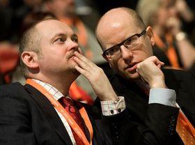 Михал Гашек и Богуслав Соботка (Фото: Филип Яндоурек, Чешское радио)