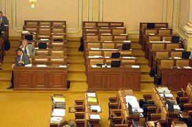 Hlasování ovzniku Ústavu pro studium totalitních režimů vPoslanecké sněmovně, foto: ČTK