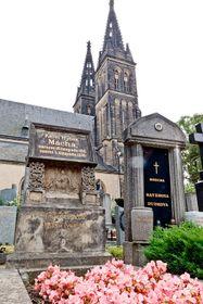 Могила Махи на пражском кладбище Вышеград (Фото: Халил Баалбаки, Чешское радио)