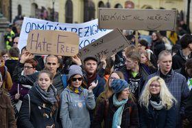 Протестная акция против проявлений ненависти и ксенофобии, Фото: ЧТК