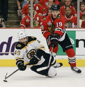 Chicago Blackhawks - Boston Bruins, photo: CTK