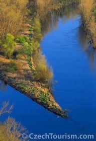 La confluencia de los ríos Vltava y Elba, foto: CzechTourisme