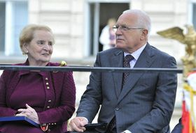 Madeleine Albright, Václav Klaus, photo: CTK