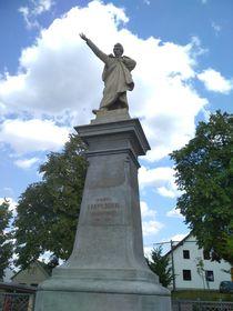 La statue de Karel Havlíček Borovský sur la place principale du village, photo: Alžběta Ruschková