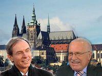 Kandidáti na prezidenta Jan Švejnar a Václav Klaus